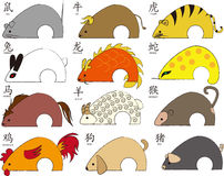 Twelve animal zodiac vector illustration