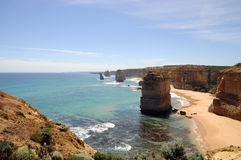 Twelve apostles. View of twelve apostles - great ocean road, australia Royalty Free Stock Photos