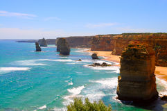 Twelve apostles. View of twelve apostles - great ocean road, australia Stock Image