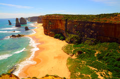 Twelve apostles. View of twelve apostles - great ocean road, australia Stock Photo