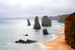 Twelve Apostles. Breathtaking view of Twelve Apostles, the iconic of Victoria Great Ocean Road Stock Photography
