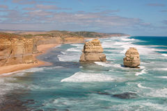 The Twelve Apostles. The left side of the Twelve Apostles, near Melbourne, Victoria, Australia Royalty Free Stock Images