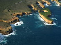 Twelve apostles. Australia, with aerial view Stock Photos