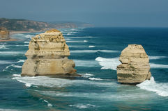 The Twelve Apostles. Scenic view of The Twelve Apostles rock formation in sea, Port Campbell National Park, Victoria, Australia Royalty Free Stock Photography