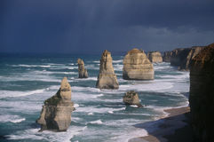 Twelve Apostles. The Twelve Apostles in Port Campbell National Park, Australia, one of the most spectacular and scenic coastlines in the world Stock Image