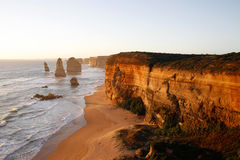 Twelve Apostles. Sunset view of the Twelve Apostles at the Great Ocean Road, Australia Royalty Free Stock Photo