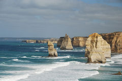 Twelve Apostles. View of The Twelve Apostles landmark, located in the Southern Ocean off the Port Campbell National Park in Victoria, Australia royalty free stock photos