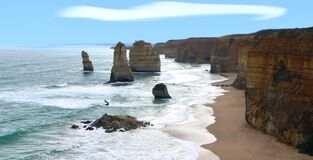 Twelve Apostles 7 Royalty Free Stock Photography