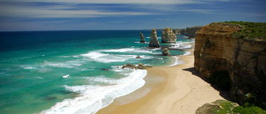 Twelve Apostles. Great Ocean Road, Victoria, Australia on a bright sunny day Stock Images