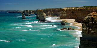 Twelve Apostles. Great Ocean Road, Victoria, Australia on a bright sunny day Stock Image