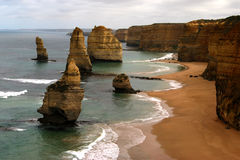 The Twelve Apostles. Victoria, Australia, viewed from the 'second' lookout Stock Photography