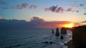 Twelve Apostles along the Great Ocean Road. The Twelve Apostles along the Great Ocean Road in Australia royalty free stock image