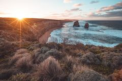 The Twelve Apostles along the Great Ocean Road, Victoria, Australia. Royalty Free Stock Images