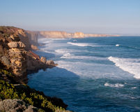 Twelve Apostles in Australia. Stormy seas over the Twelve Apostles off the coast of Australia Royalty Free Stock Image