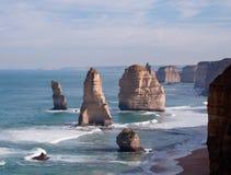 Twelve Apostles in Australia. The Twelve Apostles off the coast of Australia Stock Photography