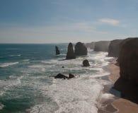 Twelve Apostles in Australia. Stormy skies over the Twelve Apostles off the coast of Australia Stock Photos
