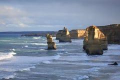 The Twelve Apostles, Australia. The Twelve Apostles sea stacks, Victoria, Australia Stock Images