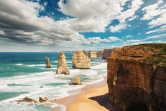 The Twelve Apostles. In Australia Royalty Free Stock Photography