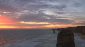 The Twelve Apostles in Australia stock footage