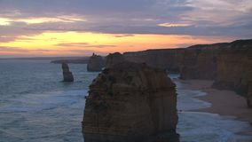 The Twelve Apostles in Australia stock video