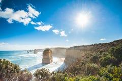 Twelve Apostles, Australia. The Twelve Apostles and accompanying cliffs as seen along the Great Ocean Road, Australia Stock Image