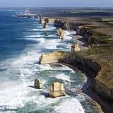 Twelve Apostles Australia from the Air royalty free stock photos