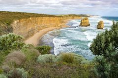 Twelve Apostles, Australia, evening light at rock formation Twelve Apostles Stock Photo