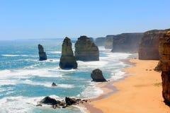 The Twelve Apostles, Australia. The famous Twelve Apostles on the Great Ocean Road, Port Campbell, Victoria, Australia Stock Image