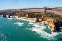 Twelve apostles in Australia. Twelve apostles in the great ocean road Stock Photo