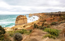 The Twelve Apostles in Australia. This photo was taken in Victoria on April 25th, 2012. The Twelve Apostles is a collection of limestone stacks off the shore of Royalty Free Stock Images