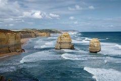 Twelve apostles, Australia. The Twelve Apostles on a stormy day, Great Ocean Road, Victoria, Australia Royalty Free Stock Image