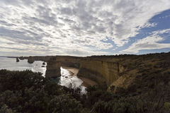 Twelve Apostles Backlit Royalty Free Stock Images