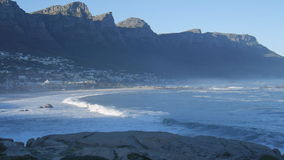 Twelve Apostles at Cape Town. Cape Town, South Africa-August 17:12 mountains from Table Mountain to Cape Point stock video