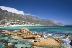 The Twelve Apostles in Cape Town stock photos