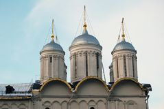 Twelve apostles church of Moscow Kremlin. Color photo. Royalty Free Stock Photos