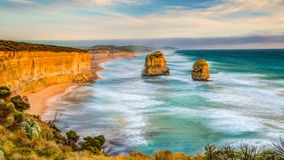 Twelve Apostles cinemagraph. Top view cinemagraph of Gibson Steps by the Twelve Apostles in Port Campbell National Park on the Great Ocean Road, Victoria state stock video