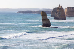 The Twelve Apostles cliffs in  Australia Stock Image