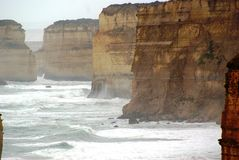 The Twelve Apostles. This is a close up image of the 12 Apostles Stock Image