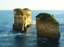 Limestone stacks at 12 Apostles Royalty Free Stock Photos