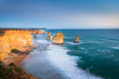 The Twelve Apostles at dusk Stock Photography