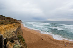 The Twelve Apostles, a famous collection of limestone stacks off Stock Image