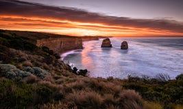 Twelve Apostles. Gibsons Steps, Twelve Apostles, Victoria, Great Ocean Road, Australia Royalty Free Stock Photo