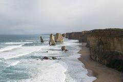 Twelve Apostles on Great Ocean Road. Australia Stock Photos