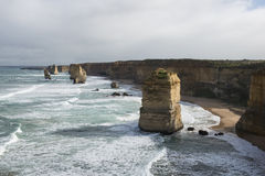 Twelve Apostles on Great Ocean Road. Australia Stock Photo
