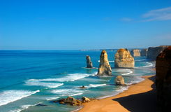 Twelve Apostles on Great Ocean Road, Australia. Royalty Free Stock Photography