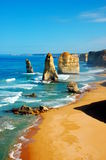 Twelve Apostles on Great Ocean Road, Australia. The Great Ocean Road is an Australian National Heritage listed 243 kilometres stretch of road along the south Stock Photography