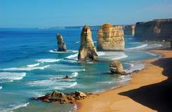 Twelve Apostles on Great Ocean Road, Australia. Royalty Free Stock Photos