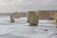 Twelve Apostles on Great Ocean Road, Australia. Royalty Free Stock Photo