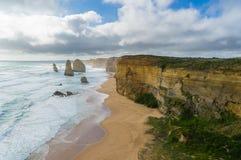 Twelve Apostles in Great Ocean Road in Australia Stock Photo