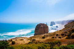 The Twelve Apostles  by the Great Ocean Road in Victoria, Australia Royalty Free Stock Photo